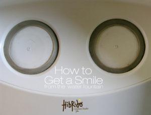Faites un sourire à votre fontaine à eau