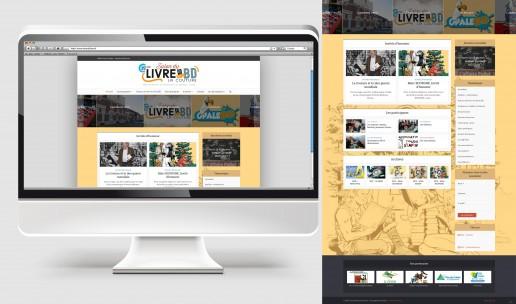 Site internet du Salon du livre et de la BD