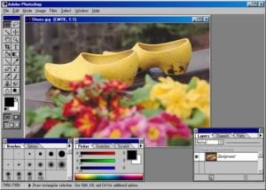 Interface photoshop 3.0