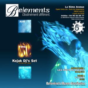 Verso du Flyer B-Elements