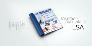 insertion publicitaire dans le magazine LSA