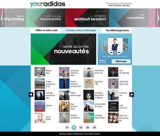 adidas download page