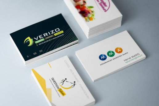 Conception des cartes de visites MMA - Verizo...