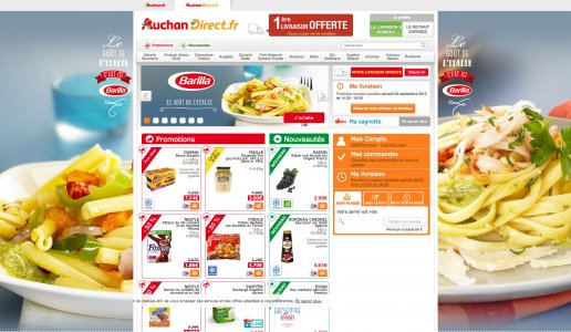 display : habillage pour Auchan Direct