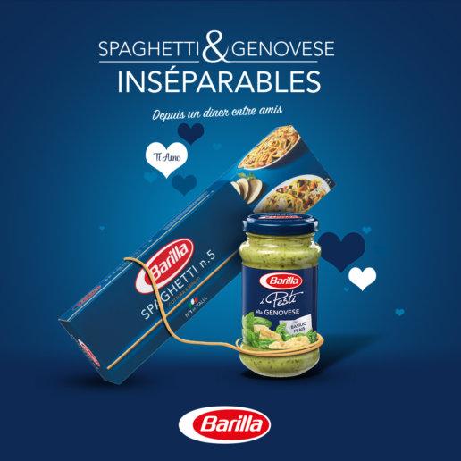 Visuel saint valentin Barilla pour Facebook