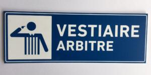 signalétique vestiaire arbitre