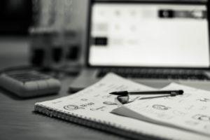 Notes & laptop