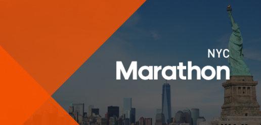 Bannière NYC marathon infographie