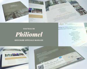 brochure de mariage Château de philiomel