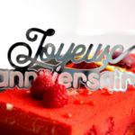 cake topper : en PMMA mirror