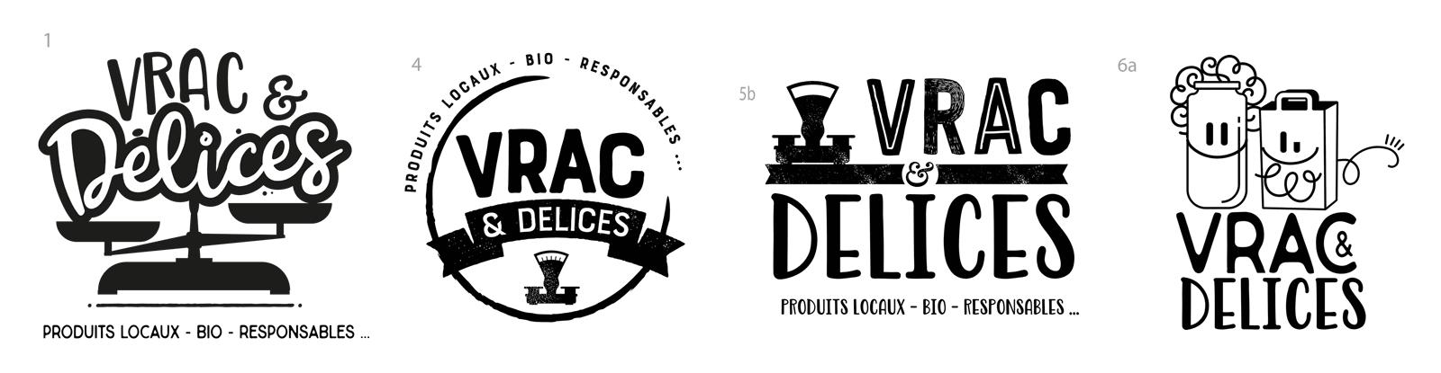 Propositions de logo Vrac & Délices