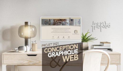 Le Convivium : création graphique et création site web